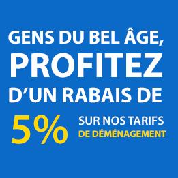 Gens du bel âge, profitez d'un rabais de 5% sur nos tarifs de déménagement !